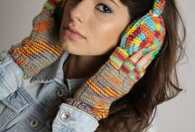 Winter sets / handmade winter sets , berets , scarves and hand warmers/ fingerless gloves