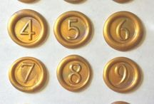 Numbered Wax Seal Stamps