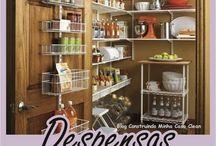 Despensas de Cozinhas Lindas!!! Veja 10 Dicas de Organização! / Veja + Inspirações e Dicas de decoração no blog!  www.construindominhacasaclean.com