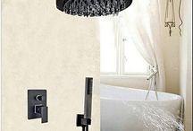 "Wall Mounted Round Rain Shower Head Faucet 3 Ways Valve Mixer Tap W/ Hand Shower Sprayer 12"""