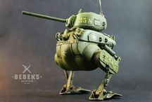 """""""Bloody Duck"""" Meng World War Toons kit: kitbash and scratch."""