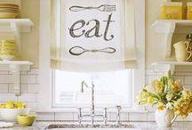 kitchen curtains / by Jayne Grasse