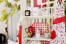 Can't get enough RED! / I love red! Mix it with white and it has the makings of my favorite cottage colors!
