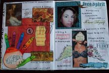 MY Art Journals / A few of my art journal pages that I have created over the years.  Most of which were inspired by participating in workshops and/or art challenges.  This works well for me because deadlines and random subjects motivate me.  Because I also love to sew, cook, scrapbook and do general DIY (a lot of which involves keeping organized ;) daily art journaling just does not fit into my lifestyle.