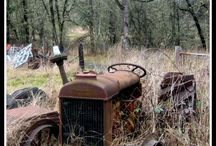 OLD TRACTORS farming equipement and machinery / by Desmond C