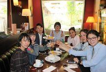 COMIDA EN RESTAURANTE, CURSO DE ESPAÑOL PARA EXTRANJEROS. / Salimos a comer con uno de los grupos de español para extranjeros en Madrid, Academia Paraninfo. Estupenda y rica comida!