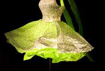 papierowa sukienka