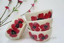 Ceramic salad bowls