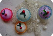 DIY Cupcake & Candies Christmas Ornaments / My cute crafties :)
