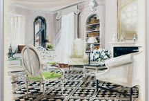 Interiors watercolor