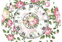 relojes y decoupage