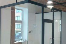 Steel glass wall oceľová sklenená stena