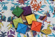So chic origami / Porte-monnaie origami en cuir.