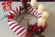 Modern Advent wreath / Wreath