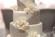 glitter cake silver