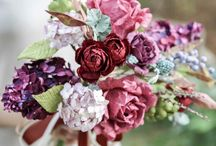 Muave Brown Purple Rustic Wild Flowers Bouquet