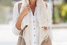 outfit con chalecos de pieles