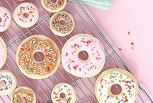 Donut and macarons