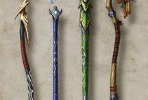 Staffs/bows