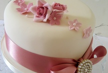 Wedding Cake, Muted Colours