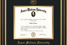 James Madison University - JMU - Diploma Frames & Graduation Gifts / Official JMU Diploma frames. Exquisitely crafted to exacting specifications for the JMU diploma. Custom framed using hardwood mouldings and all archival materials, including UV glass to prevent fading from sunlight AND indoor incandescent lighting! Each frame exceeds Library of Congress standards for document preservation and includes a 100% lifetime guarantee, ensuring that a hard-earned achievement will be honored and protected for generations. Makes a thoughtful and unique graduation gift!