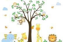 Selva Aventura / Vinilos infantiles de tamaño grande y totalmente personalizables por ti. Con esta colección ¡tendrás a los animales más divertidos de la selva en tu propia habitación!