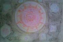 disegni spaziali / tra la luna e il sole / by Rudy Massaro