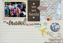 Scrapbooking - Travel layouts