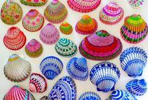 Conchas marinas Pintadas