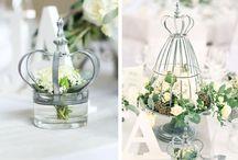 Tischdeko in Grün und Weiß / Eure Lieblingsfarben für die Hochzeit sind Grün und Weiß? Prima, hier haben wir einige Beispiele für Euch