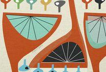 Mid-century Design & Illustrations
