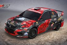 Eid Rally Team / Esteban Eid - Oscar Arze (Mitsubishi Lancer Evo IX) design for Bolivia Rally Championships 2015