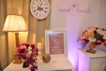 Our work - Expo Mariage / wedding flowers, gold, wedding decor