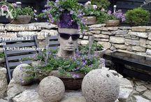 Donica betonowa głowa ozdoba do ogrodu