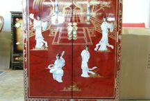 meubles chinois / des meubles chinois laqués tibétains asiatiques
