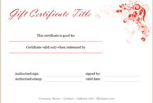 Gift Certificate Templates - 100+ Designs for Gift Certificates / Download these professionally and attractively designed gift certificate templates to design your own for any purpose. Download them for Microsoft Word.
