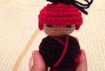 Hand made kokeshi / Estas son mis kokeshi hechas a mano!!!! La familia sigue creciendo