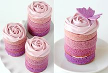 Ombre Cakes / The graduated colours of an ombre cake cover a delicious treat, made easy with Kitchen Warehouse baking and decorating equipment at http://www.kitchenwarehouse.com.au/Search-KWH?&stq=bakeware&rows=30&start=0