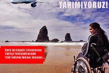 ENGEL TANIMIYORUZ / Engel Tanımıyoruz !!! Engelli Yolculara Yurtiçi Yolculuklarında %50 İndirim İmkanı https://goo.gl/5GLYUV #112uçakbileti #indirim #engelli #seyahat #uçak engelli #engelliyolcu
