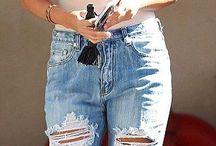 calça rasgada feminina