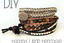 Beaded and wrap bracelet
