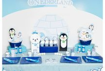 Winter ONEderland / Winter party with penguins and polar bears for your little one turning ONE