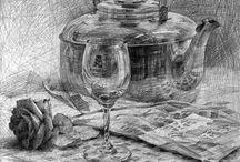 Pencil drawings Charcoal