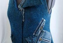 джинсовые безрукавки