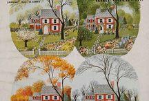 Старинные открытки, иллюстрации, журналы, этикетки