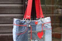 Výrobky z rifloviny - tašky, odevy...