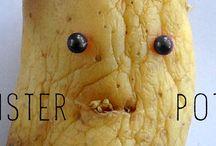 MONSTER POTATO / Laissez vos pommes de terre quelques semaines sous l'évier, livrées à elles-même, abandonnées, seules dans le noir... Et vous aurez des étranges monstres...