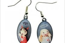 Earrings / Earrings are ideal for children and mothers of nickel-free metal. La Marelle funny designs.