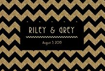 GLITZ / Modern meets classic. This black & gold chevron channels old school glamour like no other. Pair with a party inspired by iconic style (and of course a red lip & white tux). A limited-edition, luxury wedding website by RILEY & GREY.  / by Riley & Grey