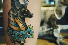 Tatuagem de anubis